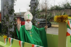 St. Patricks Day 2017. Peter O'Connor (NRCH) looking spectacular as St. Patrick in the hospital float for the town parade.